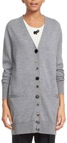 Marc Jacobs Mixed Button Detail Merino Wool Cardigan