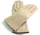 EMPORIUM LEATHER The Leather Emporium Women's Faux Fur Lined Gloves Winter Warm Diamond Detail