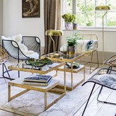 Graham and Green Estere Gold Marble Coffee Table