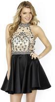 Jolene Collection - 17569 Bedazzled High Halter A-line Dress