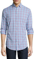 Peter Millar Mickey Performance Gingham Sport Shirt, Cottage Blue