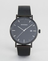 Sekonda Minimalist Black Mesh Watch Exclusive To ASOS