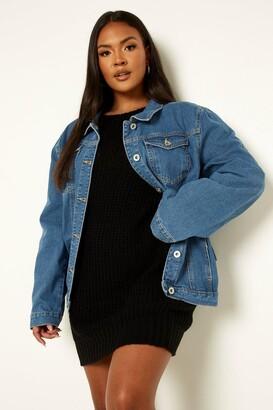 boohoo Plus Western Denim Jacket