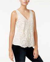 Rachel Roy Lace-Front Tank Top, Only at Macy's