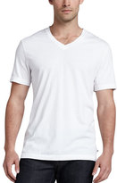 James Perse V-Neck Cotton T-Shirt, White