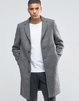 Selected Herringbone Overcoat
