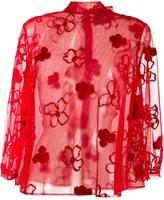 Simone Rocha sheer floral blouse - women - Polyamide/Polyester/Wool - 8