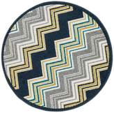 Loloi Rugs Loloi Terrace 3' Round Power Loomed Rug in Navy