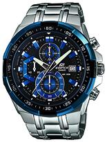 Casio Efr-539d-1a2vuef Edifice Bracelet Strap Watch, Silver/black
