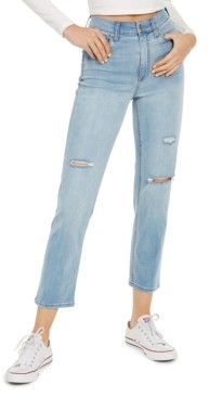 Celebrity Pink Juniors' Ripped Slim Straight Jeans
