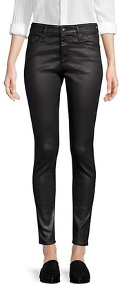 AG Jeans Farrah High-Rise Ankle Faux Leather Skinny Pants