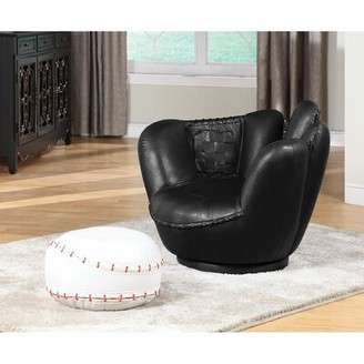 "Grove Lane Ledbury 30"" W Faux leather Swivel Club Chair and Ottoman Grovelane"