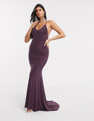 Club L London Club L cami maxi dress in purple