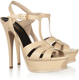Saint Laurent Tribute leather platform sandals