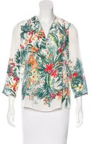 Sandro Silk Floral Print Top