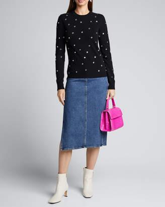 No.21 No. 21 Embellished Crewneck Wool Sweater