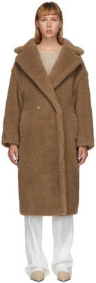 Max Mara Tan Camel Teddy Bear Icon Coat