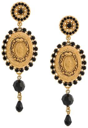 Dolce & Gabbana Drop Medallion Earrings