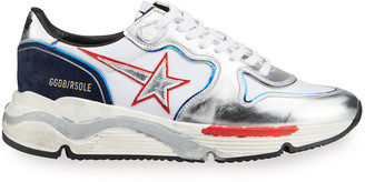 Golden Goose Men's Vintage Metallic Star Running Sneakers