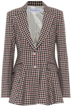 J.W.Anderson Checked virgin wool blazer