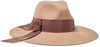 Eugenia Kim Emmanuelle Grosgrain-trimmed Wool-felt Hat