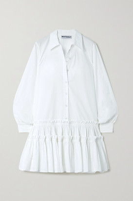 Molly Goddard Ithaca Ruffled Cotton-gabardine Shirt Dress - White
