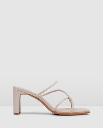 Jo Mercer - Women's Nude Strappy sandals - Novi Mid Heel Sandals - Size One Size, 38 at The Iconic