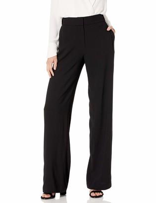 Halston Women's Wide Leg Wool Pants