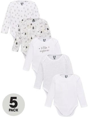 Very Baby Unisex 5 Pack Little Explorer Bodysuits - Multi