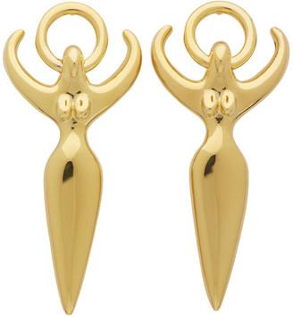 Chloé Gold Figure Earrings