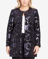 Tahari ASL Plus Size Metallic Topper Jacket