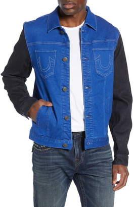 True Religion Brand Jeans Dylan Colorblock Trucker Jacket