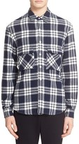 TOMORROWLAND Men's Plaid Knit Sport Shirt