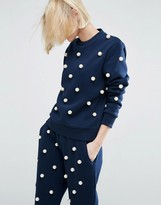 Asos Pearl Embellished Sweater