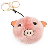 Kate Landry Piggy Faux-Fur Pom Pom Charm