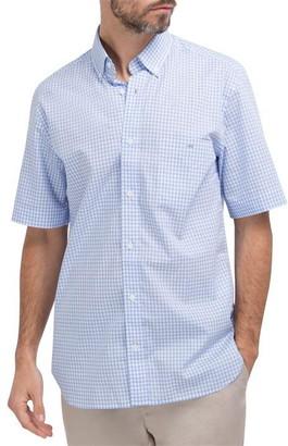 Eden Park Cotton short-sleeved shirt with pink gingham pattern