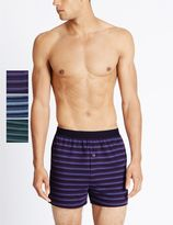 Marks and Spencer 3 Pack Pure Cotton Cool & FreshTM Boxers with StayNEWTM