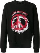 Love Moschino peace logo sweatshirt
