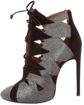 Alaia Laser Cut Ankle Boots w/ Tags