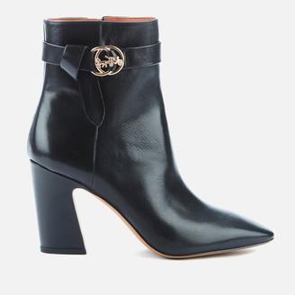 Coach Women's Teri Leather Heeled Boots - Black