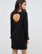 BA&SH Diary Dress with Cut Out Back and Fluted Sleeves
