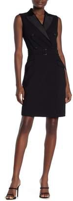 SUISTUDIO Sleeveless Surplice Mini Dress