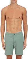 Onia Men's Calder Cotton-Blend Swim Trunks-GREEN