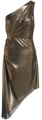 Ramy Brook Susanna Metallic Asymmetrical Dress