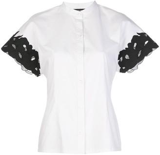 Natori Contrasting Cuff Slim-Fit Shirt