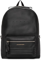 Alexander McQueen Black Leather Studded Backpack