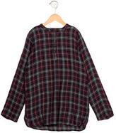 Etoile Isabel Marant Girls' Plaid Long Sleeve Top