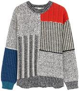 Stella McCartney Panelled textured-knit jumper