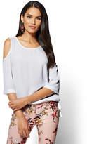 New York & Co. Soho Soft Shirt - Cold-Shoulder Blouse