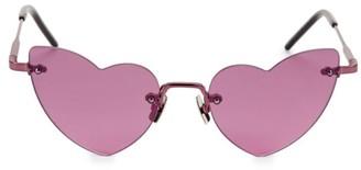 Saint Laurent LouLou Rimless 50MM Heart Sunglasses